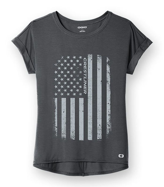 Picture of LOG800 - Ladies OGIO Cuffed Short Sleeve